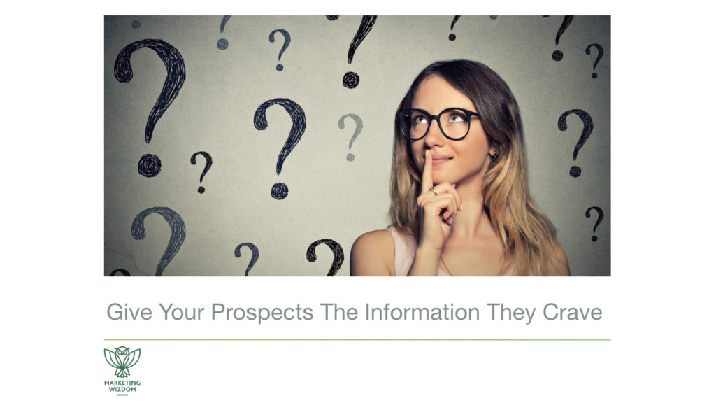 Packaged Information Your Prospscts Crave