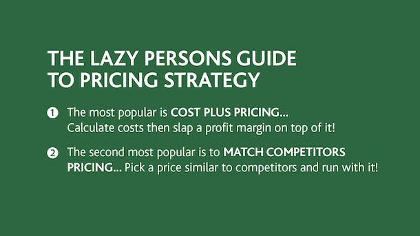 Profitable prices - Lazy person's guide