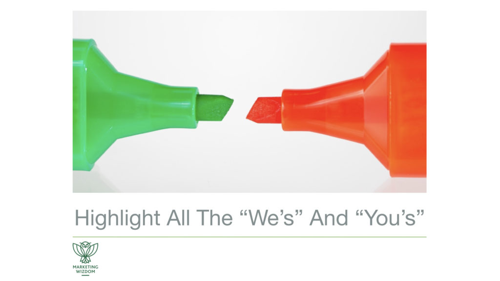 Copywriting red and green highlighters