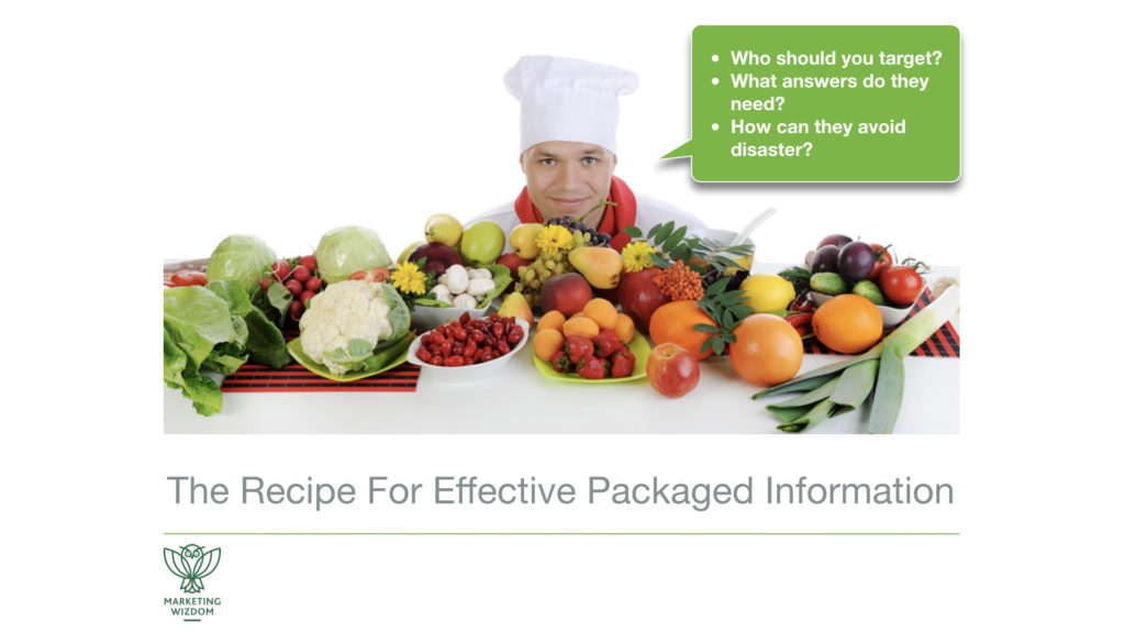 Packaged Information Recipe